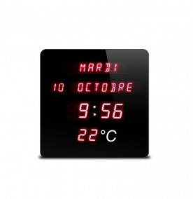Horloge digitale rouge