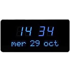 Horloge à leds bleues